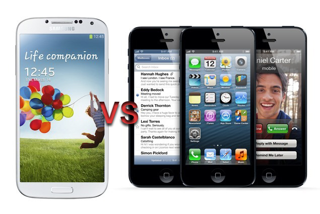 samsung-galaxy-S4-versu-apple-iPhone-5