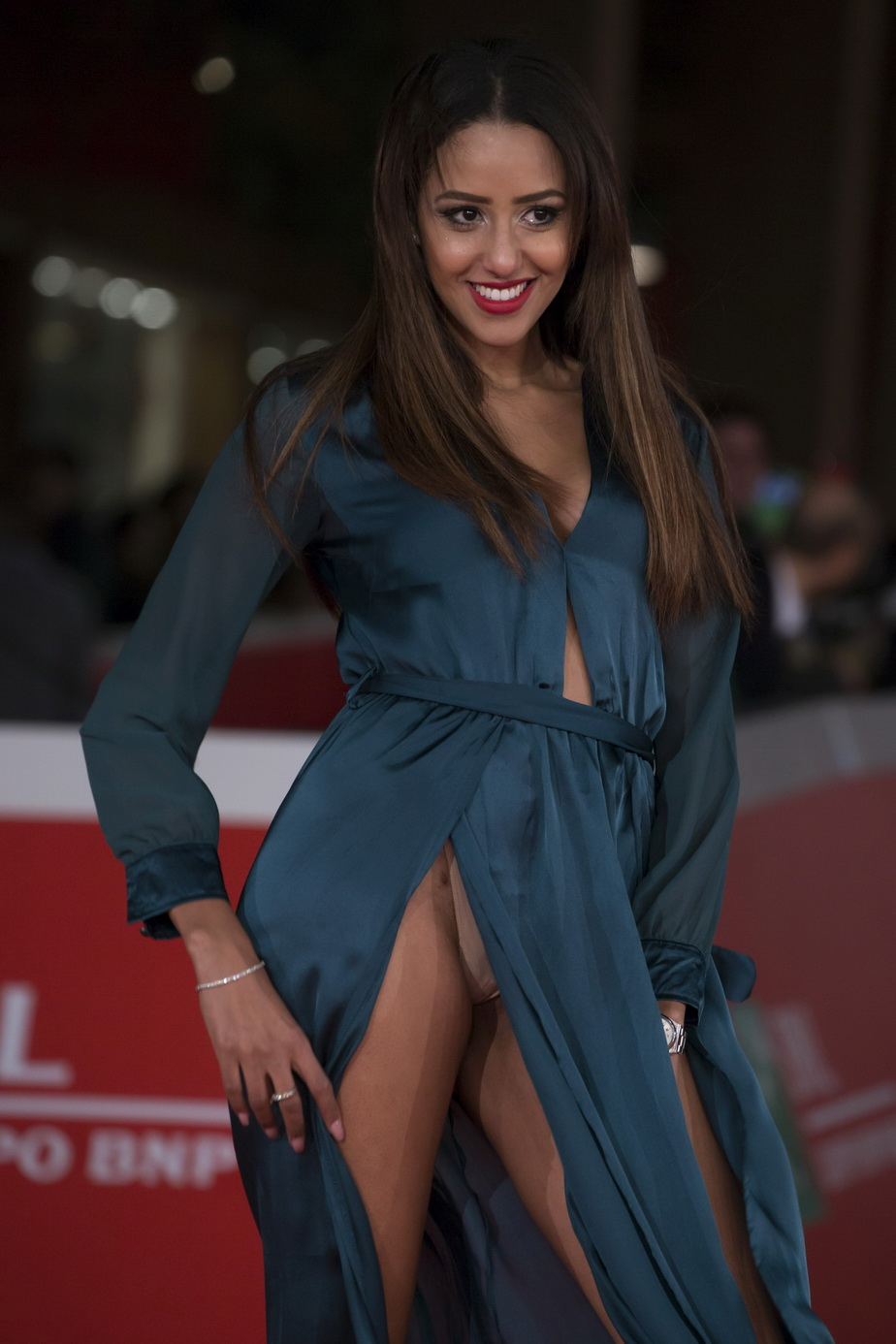 Actress Zaina Dridi poses for pictures as she arrives at Carol premiere as part of the 10th Rome Film Festival in Rome, Italy, on October 22, 2015 Photo by Alessia Paradisi/ABACAPRESS.COM